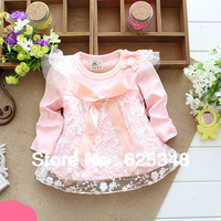 girls' dresses new fashion 2014 spring baby dress baby girl clothes kids flowers cotton dress girls clothes retail