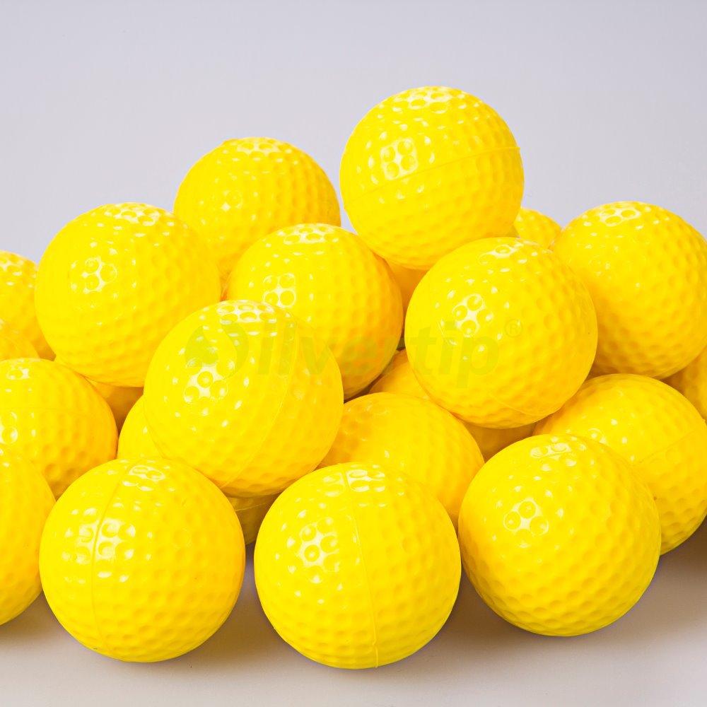 Free Shipping New 30pcs Yellow PU Foam Golf Balls Sponge Elastic Indoor Outdoor Practice Training(China (Mainland))