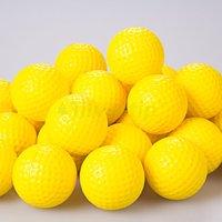 Free Shipping New 30pcs Yellow PU Foam Golf Balls Sponge Elastic Indoor Outdoor Practice Training