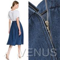 Denim midi expansion bottom denim skirt medium skirt bust skirt  Europe and denim skirt ladies section