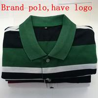 New 2014 autumn-summer brand t shirt men Designer Slim Fit cotton stripe t shirt casual