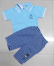 new fashion 2014 summer girls boys children clothing set t shirt within pants 2pcs suit