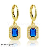 Dropship Free shipping18K Rose Gold Filled Fashion Design wedding Hot  Cubic zirconia Lady Women Earring Dangler Jewelry CZ0379