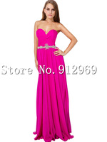 Free shipping sweetheart Evening Dress long floor length chiffon dresses SLD93965