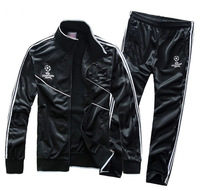 New 2014 Munich Champions League Soccer Sport Suit Men Football Training Tracksuit Futbol Jackets and Pants Sportswear