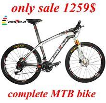 ONLY 1179$ COSTELO MASSA Full Carbon Fiber MTB Bike Mountain Bicycle complete 26er 29er bicicleta Carbon MTB bike frame LOOK 986(China (Mainland))