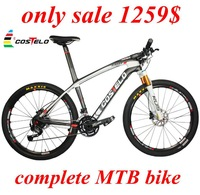 ONLY 1179$ COSTELO MASSA Full Carbon Fiber MTB Bike Mountain Bicycle complete 26er 29er bicicleta Carbon MTB bike frame LOOK 986
