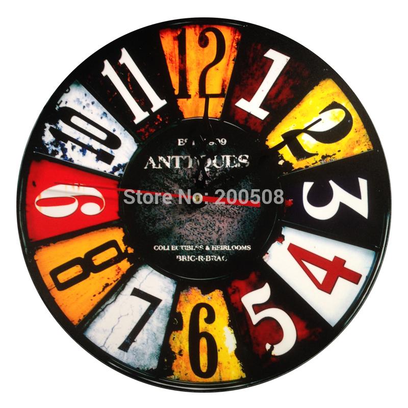 Fashion clock modern design rustic digital darts wall clock home decor wall clocks(China (Mainland))