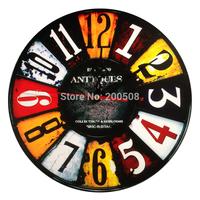 Fashion clock modern design rustic digital darts wall clock home decor wall clocks