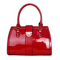 2014 New fashion  japanned leather vintage crocodile pattern women handbag shoulder bag