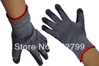 Gloves cotton yarn working gloves glue wear-resistant slip-resistant latex gloves  free shipping