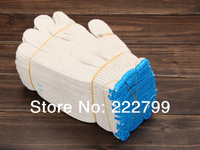 high quaility thickening Top cotton yarn white cotton line work gloves 52 grams free shipping