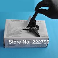 Disposable gloves 9 nitrilobutadien black slip-resistant powder wear-resistant protective oil alkali resistant gloves