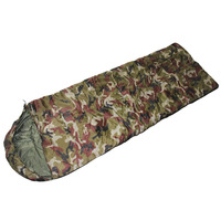 Outdoor  Wild Survival Camouflage Camping Envelope Hooded style Adult Single Sleeping bag