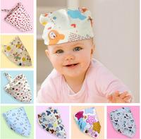Fashion Baby Kid Toddler Bandana Bibs Saliva Towel Dribble Triangle boy girls cotton Head Scarf 21-40 colors