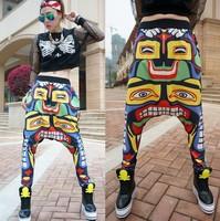 DJ-08 Harajuku Fashion Loose Hip hop harem pants Hanging crotch pants Casual women Sport pants women joggers hip hop harem pants