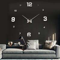 Modern Luxury Large Digital Wall Clock Stickers Decor Watch 3D EVA Acrylic DIY Clocks Home Decoration Gift Freeshipping