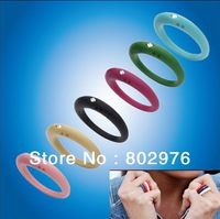 100ps/lot 100% silicone finger ring 18colors  Lady/kids fashion silicone finger ring with diamond  DHL free shipping