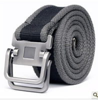 New 2014 fashion canvas belt for men belts women Canvas stainless steeel Cow leather  item belt