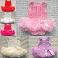 Baby Chiffon Princess Dress Toddler Girl Sleeveless Romper Cute Rose Bubble Tutu Dress Baby New Fashion Spring Summer Clothing