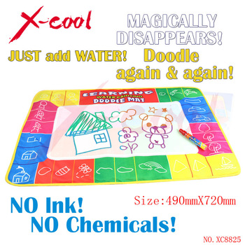 XC8825 72X49cm 4 clolors Water drawing mat with color box with 1pcs magic pen/aquadoodle ...