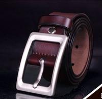 Retro men's fashion genuine leather belt women Classical Business pin buckle belt free shipping
