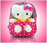 removable hello kitty kids children shoulder dot school bags Bolsas plush Backpack for girls Mochila The Knapsack free shipping