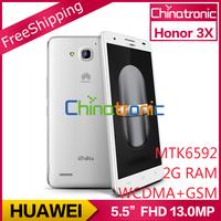 "Original HUAWEI Honor 3x Pro G750 T20 Multi-language MTK6592 Octa-core 1.7G Dual-SIM WCDMA 5.5""HD IPS 2G RAM+8GB ROM In stock"