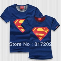 Superman T Shirt Lovers Clothes Women's Men's 7 Colors 9 Sizes casual O neck short sleeve t-shirt for couples S-XXXL Cotton tees