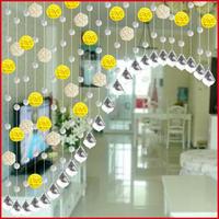 Rustic sepak takraw living room shoe crystal glass door curtain bead curtains compartmentation soft entranceway semi-shade