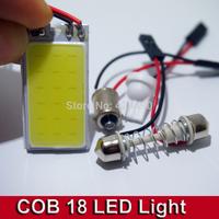 10sets/lot 3W COB Chip 21 led LED Car Interior Light T10 Festoon Dome BA9S Adapter 12V,Wholesale Car Vehicle LED Panel