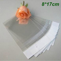 8cm*17cm Clear Self Adhesive Seal Plastic Bags OPP Poly Bags Retail Packaging Bag W/ Hang Hole Wholesale 1000Pcs/Lot