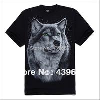 Promotion hottest style punk print wolf t-shirt 3d men's t-shirts brand t shirt men factory price