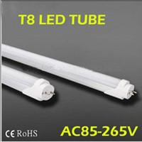 FedEX Free shipping led fluorescent 18W 20W 1200MM T8 LED Tube Light High brightness SMD2835 25LM/PC 96led/PC 2400LM AC85-265V