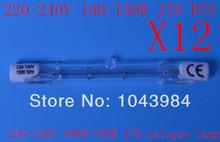 envío gratis lámpara halógena lineal 12 unidades j78 220-240v doble espiral filamento lámpara halógena 100/150w(China (Mainland))