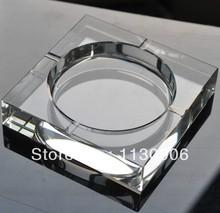 Wholesale 100% guaranteed brand new high quality square crystal ashtray Free International Shipping 150 mm(China (Mainland))