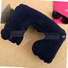 1 pcs aire almohada inflable forma u cuello resto de viaje hinchable de aire tren avión incluso en la oficina portátil cómodo(China (Mainland))