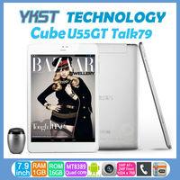 Original Cube U55gts Talk 79s Phone Call Tablets MTK8312 Dual Core 7.9 inch U55gt Talk79 MTK8389 Quad Core Bluetooth GPS WCDMA