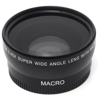 55MM 0.45x Wide Angle Lens + Macro Lens for Sony Alpha A77 A280 A290 A380 A390 A580 A590 DSLR Camera Free Shipping