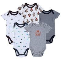Newly 5pcs/lot Luvable Friends Baby Clothing Set Football Carters Baby Girl Boy Rompers Conjunto De Roupa Next Bebe Clothing