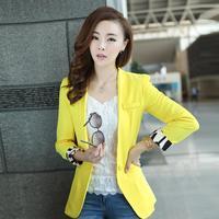 new 2014 women blazers and jackets, yellow blazer, women clothing, red blazer women, ladies blazer, office suits, short brand