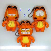 Cartoon Cat USB Pen Drive 4GB 8GB 16GB 32GB Real Capacity HKPAM FREE Shipping PVC Garfield USB Flash Drive