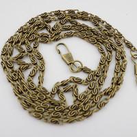 "47"" 120cm 20pcs/lot antique brass bronze metal handbags bags purse handle chains strap sewing DIY accessory"