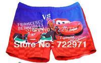 Cars boy swimming trunks kids beach wear swimwear children cartoon swimming shorts free shipping