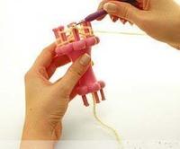 Free shipping DIY rope castle weaver circle looms machine belt yarn knitting loom plastic knitting machine is knitted