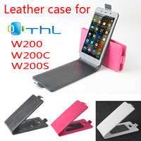 Flip Leather case for THL W200 W200S W200C Phone for free shipping, Protective case for THL W200 W200S W200C Smart Phone