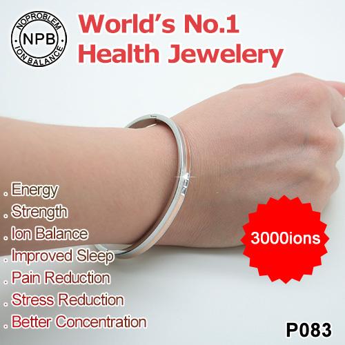 P083 NPB Germanium balance ion energy magnetic tourmaline sexy power health women charms love bracelet