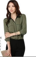 2014 new fashion women's clothing, chiffon shirt style loose comfortable and free shipping