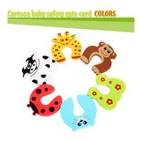 baby safety gate card Children splines  Protective Equipment Baby cartoon animals  Door stopper 14PCS