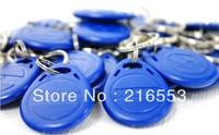 125Khz RFID Proximity ID Card Keyfobs,Access Control Card Rfid Tag Blue yellow red   100pcs/lot